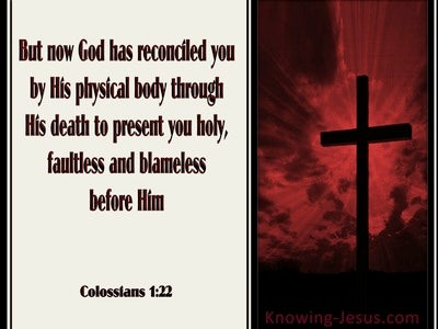 Colossians 1:22 God Has Reconciled You (red)
